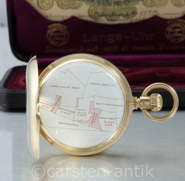 Unique Gold dicker `s A. Lange & Sohne 1A 18k gold pocket watch 1903 Box certifi