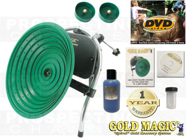 Gold Magic 1210 12-10 Automatic Pan Panning Machine Spiral Wheel + BONUS ITEMS $464.95