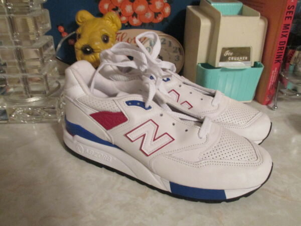 New Balance 998 Explore By Air - M998DMON - White/Red/Blue Size 6.5 men's