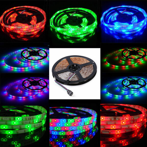 5/10/15/20M 3528 60LEDs/m Flexible LED Strip Lights Roll Rope Tape RGB DC12V DIY