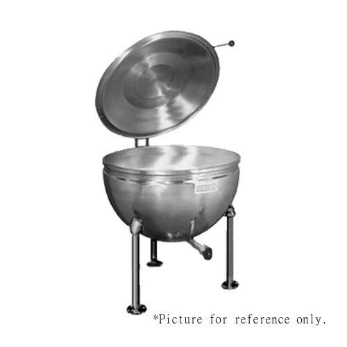 Groen GT-40 Direct Steam 40-Gallon Stationary Kettle with Tri-Leg Open Base