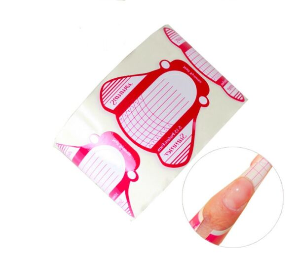 100Pcs Nail Art Tips Extension Forms Guide French DIY Tool Acrylic UV Gel $4.99