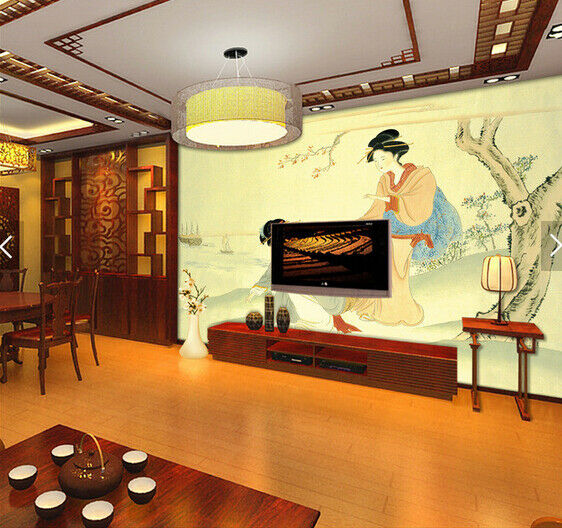 3D Ladies Paint 669 Wallpaper Murals Wall Print Wallpaper Mural AJ WALL AU Kyra