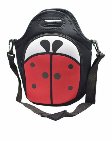 MOT Global Ladybug Insulated Neoprene Lunch Bag - Lunch Tote with Adjustable Sho