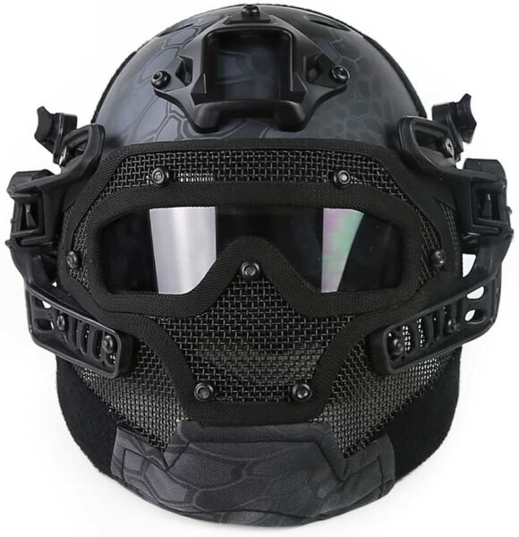 Tactical Protective Goggles G4 System Full Face Mask Helmet Airsoft Paintball BK $71.26
