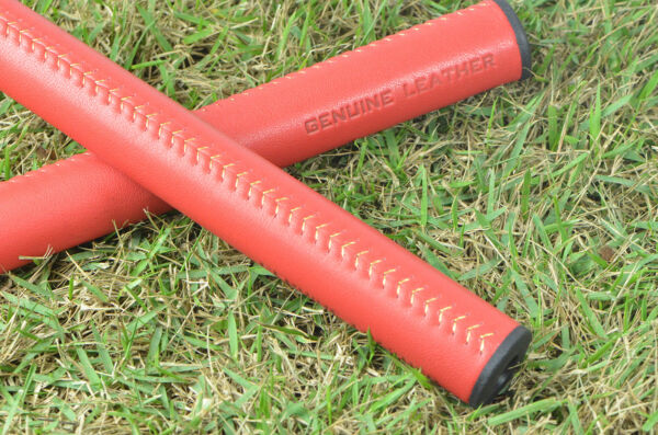 START-UP CLOSING!! BOBBY DUKE LEATHER NON-TAPER STRAIGHT MIDSIZE  PUTTER GRIP