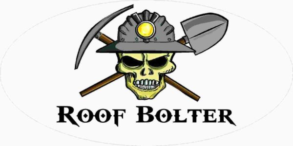3 Roof Bolter Miner Skull Coal Mining Tool Box Hard Hat Helmet Sticker WV H407 $2.99