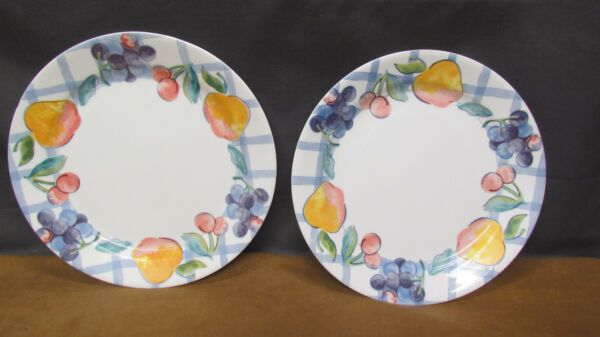 LOT OF 2 CORELLE CORNING PLATE FRUIT TOO 10 1 4quot; DINNER USA