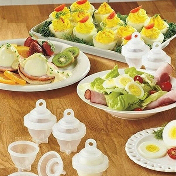 1 Set 6 Eggies Hard Boil Eggs Without The Shell with 1 Bonus Egg Separator Top