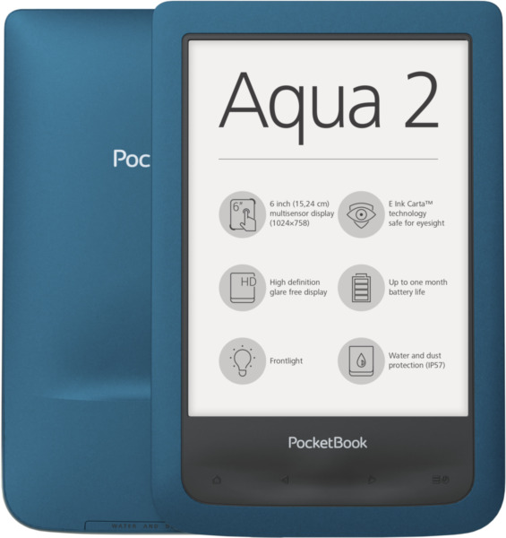 Pocketbook Aqua 2 azure 8GB E-Book Reader 6