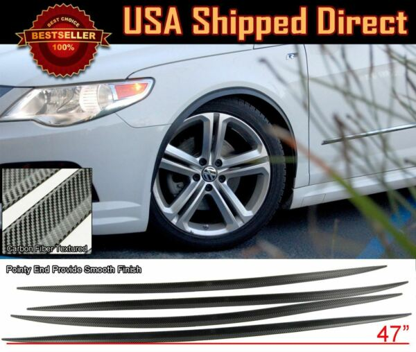 2 Pairs Flexible Slim Fender Flare Extension 3D Carbon Protector Trim For Ford $33.94