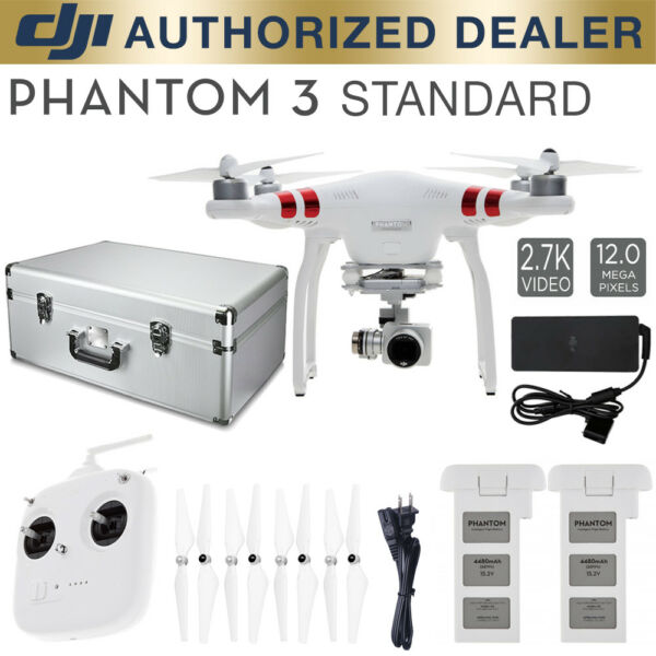 DJI Phantom 3 Standard Quadcopter Drone Bundle w/ spare battery