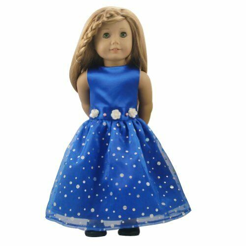 Royal Blue Party Dress Fits 18