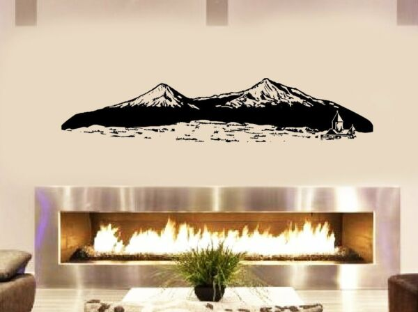 Ararat mountain Armenia Noah Ark Living room bedroom fireplace 36quot; Black