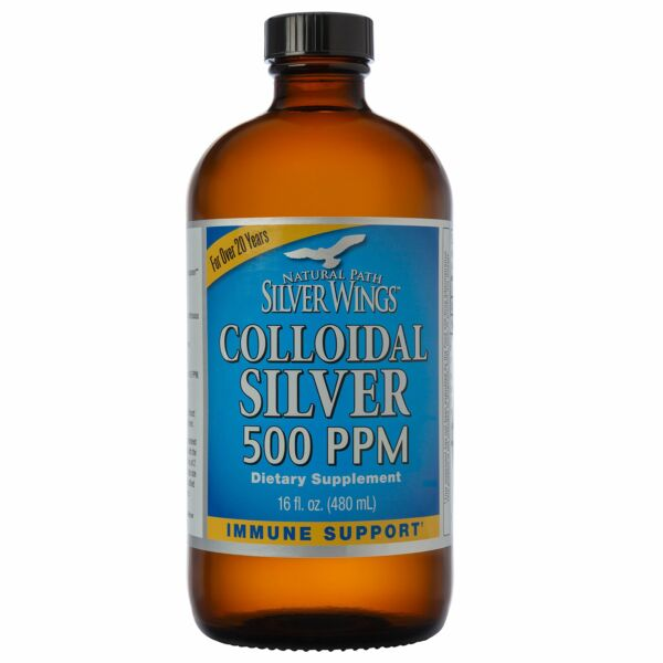Natural Path Silver Wings - Colloidal Silver 500 ppm  (16 fl.ounce 480 ml) P...