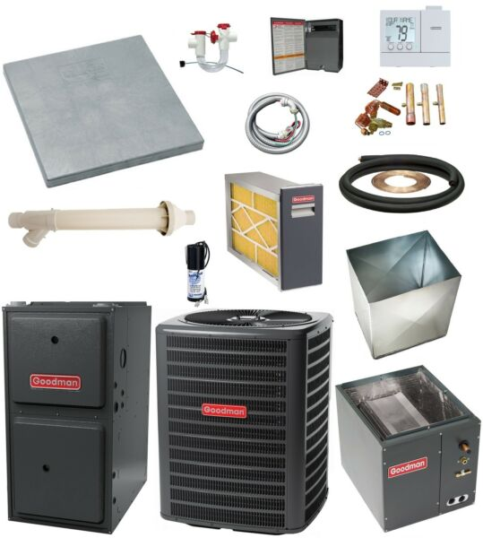 UP-FLOW_MOST COMPLETE 96% 2-Stg 100k btu Gas Furnace & 5 Ton 16 SEER AC + MORE