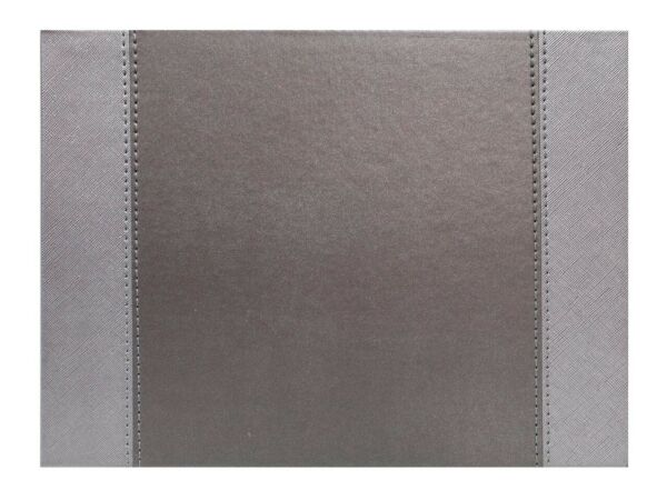 Faux Leather Stitch Rectangular Reversible Placemats Glitzy Silv