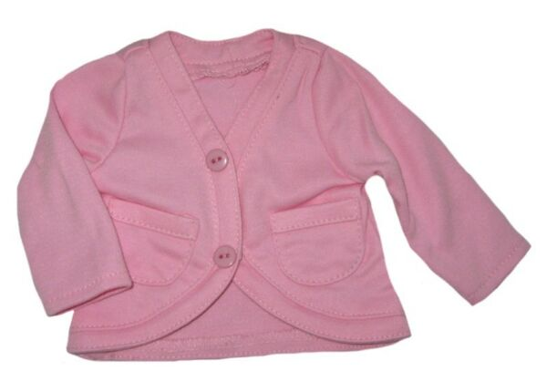 Pink Cotton Knit Cardigan Fits 18 inch American Girl  Dolls