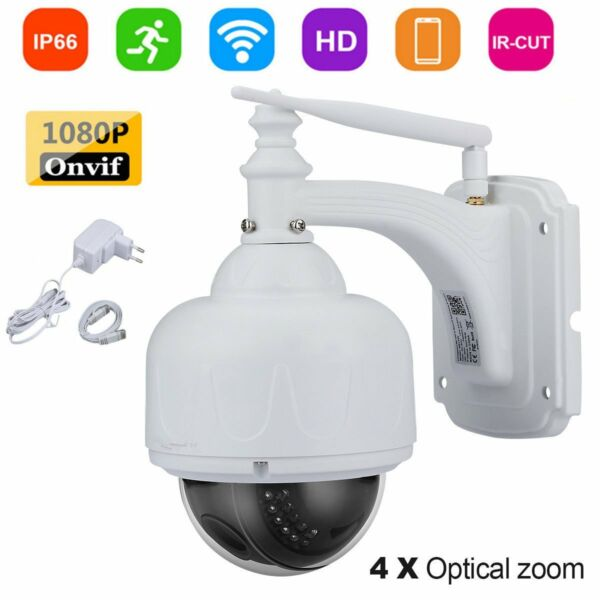 4X ZOOM HD 1080P 2MP CCTV IP Kamera PTZ WLAN Wifi Outdoor Dome IR Nachtsicht LK