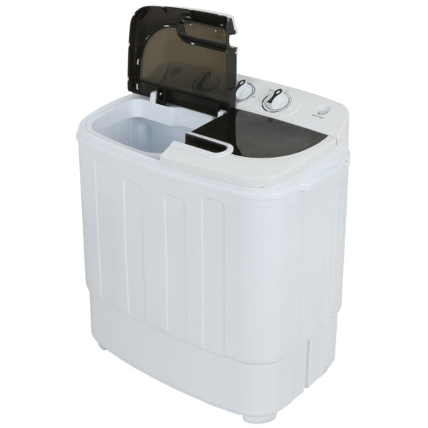 Compact Portable Washer amp; Dryer with Mini Washing Machine and Spin Dryer White
