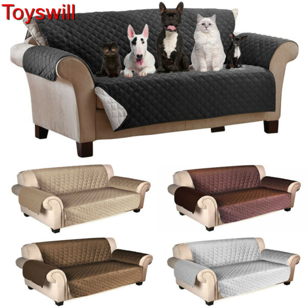 Toyswill Quilted Microfiber Slipcover Pet Dog Couch Sofa Chair Protector Cover $93.99