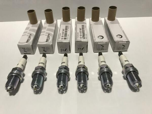 6-pc BMW Spark Plugs NGK Double Laser Platinum Upgrade Set for E39-E46-M54 3199
