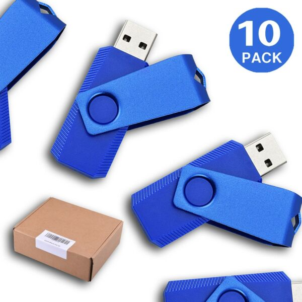 LOT 10 20 50 100 1G Thumb U Disk USB2.0 Flash Memory Stick Swivel Pen Storage