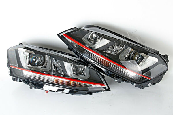 Genuine VW Golf Mk7 GTI 2013- LED DRL Xenon Headlights PAIR Left + Right