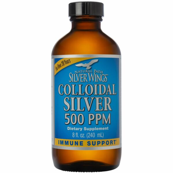"""Natural Path Silver Wings - Colloidal Silver 500 ppm """"Best Seller"""" (8 fl.ounc..."""