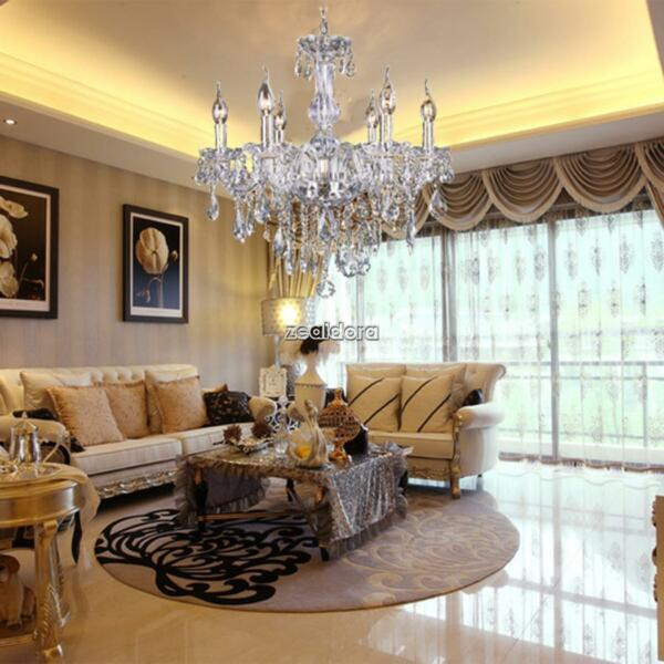 Modern Crystal Chandelier 6Ceiling Light Lamp Pendant Fixture Lights Decoration#