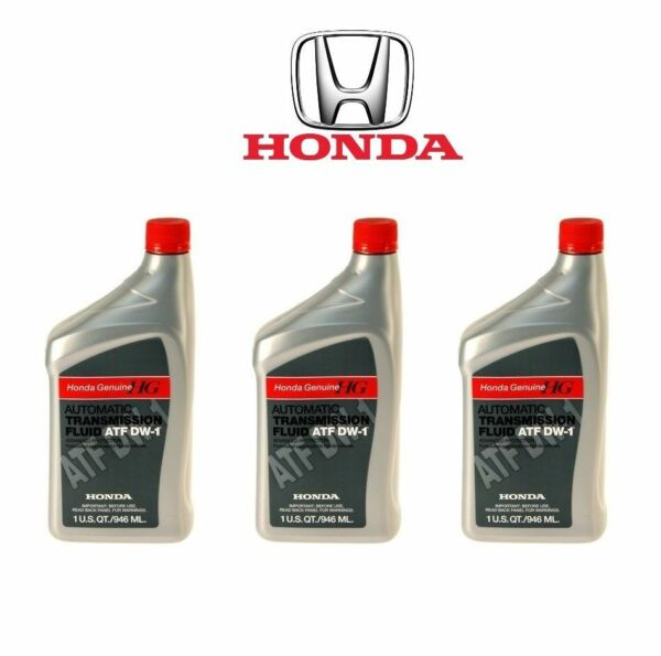 3 PACK of Honda ATF DW-1 Automatic Transmission Fluid Genuine 082009008 - 3 QTS