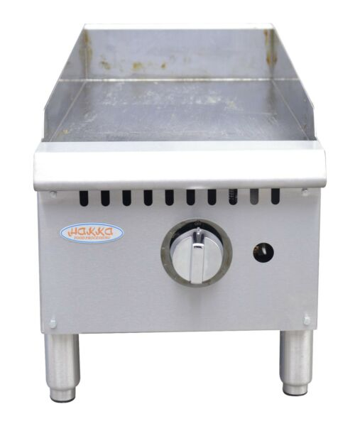 Hakka Heavy Duty Commercial 12quot; Countertop Gas Thermostat Griddles