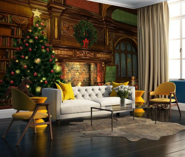 3D Tree Fireplace 69 Wall Paper Wall Print Decal Deco Indoor Wall Mural CA