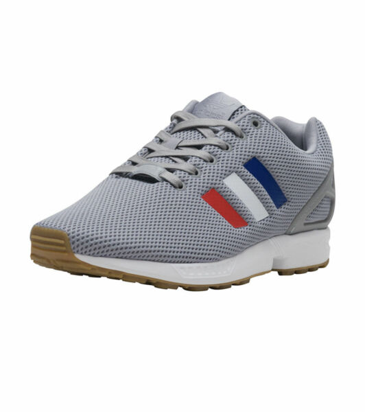 adidas Originals Zx Flux Grey / Red / White / Blue Casual Shoes Sz 9 BB2768
