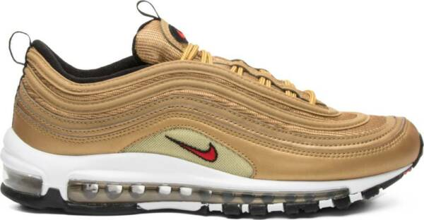 Nike Air Max 97 OG QS Metallic Gold Varsity Red 884421-700 Authentic Limited