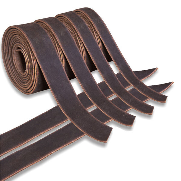Genuine Cowhide Leather Belt Blanks Belt Strip Brown Oil Tanned 5-6 Oz Thick U--