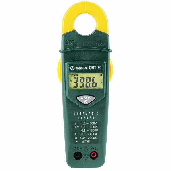 Greenlee CMT-80 600-Volt 400-Amp AC Durable Compact Automatic Electrical Tester