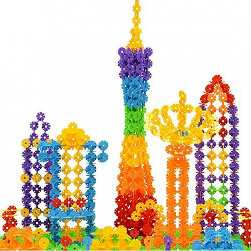 500PCS Building Blocks Flakes Set Interlocking Plastic Disc Educational Stem Toy
