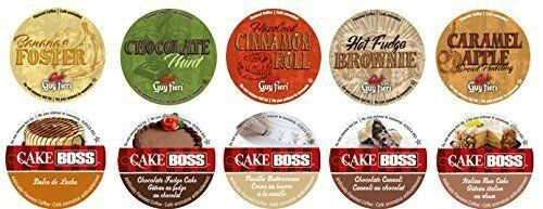 12 K Cups Cake Boss and Guy Fieri Variety Pack - 12 Different Flavors