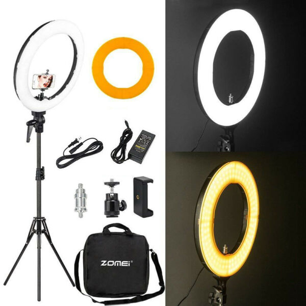 18quot; LED SMD Ring Light Kit with Stand Dimmable 5500K for Makeup Phone Camera