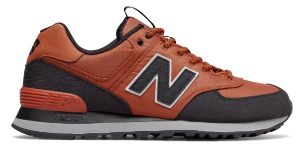 New Balance Men's Out East 574 Shoes Brown with Black