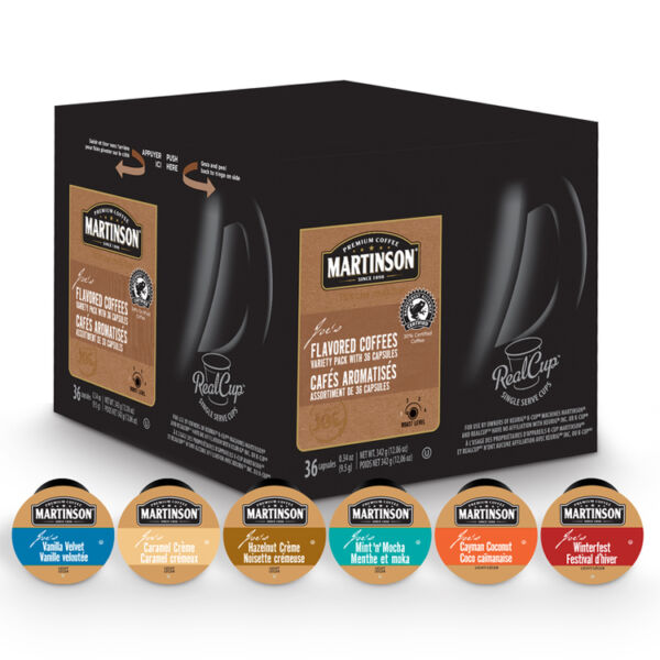 12 K Cups Martinson Variety Pack - 6 Different Flavors - Flavored Coffee Only