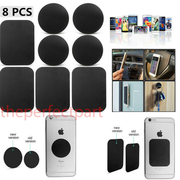 8 Pack Metal Plates Sticker Replace For Magnetic Car Mount Magnet Phone Holder $4.19