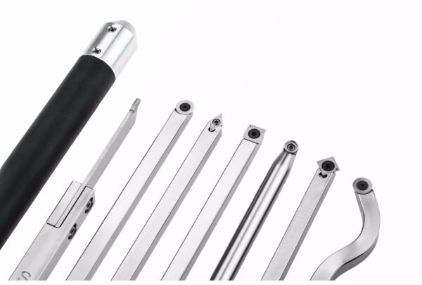 Simple Woodturning Tools - Package of 7 Full Size Carbide Tools and Handles