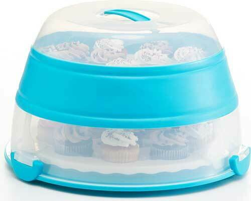 Progressive Collapsible Cupcake Carrier Blue