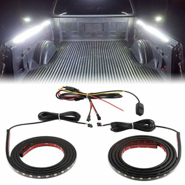 2X 60quot; LED BAR TRUCK BED CARGO WORK LIGHTING KIT STRIPS FOR CHEVY FORD DODGE GMC