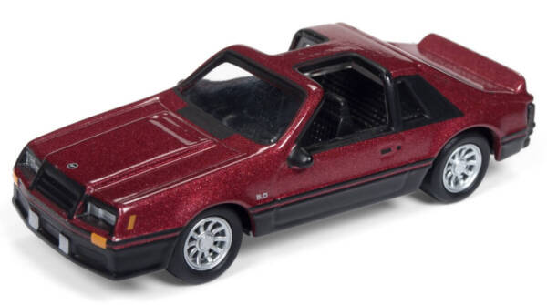 Johnny Lightning 1 64 1982 Ford Mustang Two Tone Die Cast Car JLSP033