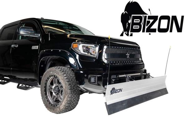 Bizon Aluminum Snow Plow (fits) 2015-2020 Chevy Colorado GMC Canyon 4WD ONLY
