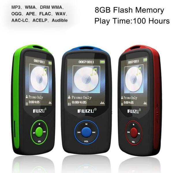 64G Support RUIZU X06 Bluetooth Sport MP3 Player TF Card Music Media 1.8 TFT UP