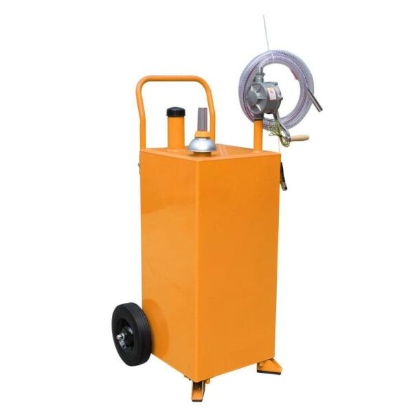 New 30 Gallon Gas Caddy Tank with Pump amp; Hose Fuel Storage Gasoline Fluid Diesel $259.69